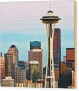 Seattle Daylight Wood Print
