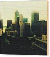Seattle - Downtown Wood Print