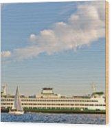 Seattle Ferry Boat Wood Print