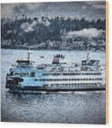 Seattle Ferry Wood Print