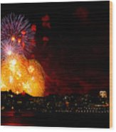 Seattle Fireworks Wood Print
