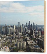 Seattle From Above Wood Print