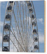 Seattle Great Wheel Wood Print
