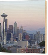 Seattle Wood Print by Larry Keahey