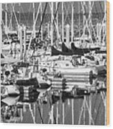 Seattle Marina Wood Print