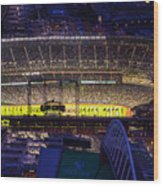 Seattle Mariners Safeco Field Night Game Wood Print