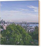 Seattle Panorama Wood Print