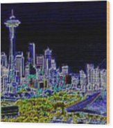 Seattle Quintessence Wood Print