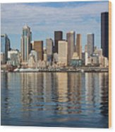 Seattle Reflection Wood Print