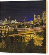 Seattle Rush Wood Print