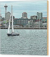 Seattle Sail Wood Print