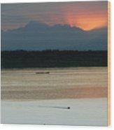 Seattle Shilshole Bay Sunset  Wood Print