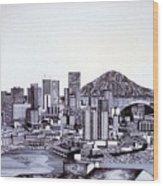 Seattle Skline Wood Print