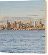 Seattle Skyline 2 Wood Print