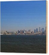 Seattle Skyline And Space Needle Wood Print