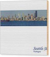 Seattle Skyline From Alki Wood Print