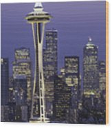 Seattle Space Needle 0200 Wood Print