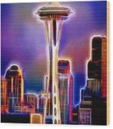Seattle Space Needle 1 Wood Print