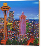 Seattle Space Needle 5 Wood Print