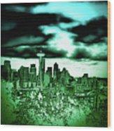 Seattle - The Emerald City Wood Print