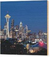 Seattle Twight Wood Print