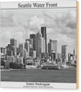 Seattle Water Front Wood Print