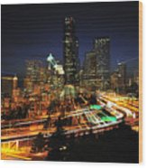 Seattle Zooming C087 Wood Print