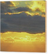 Seaview Sunset 3 Wood Print