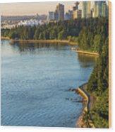 Seawall Along Stanley Park In Vancouver Bc Wood Print