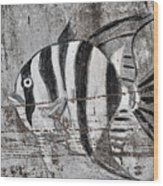 Seawall Art Wood Print