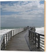 Sebastian Inlet On The Atlantic Coast Of Florida Wood Print