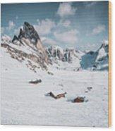 Seceda Dolomity, Italy  Wood Print
