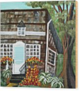 Secluded Home Wood Print