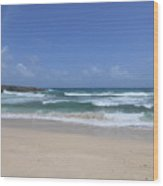 Secluded Remote Beach Of Boca Keto In Aruba Wood Print