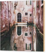 Secluded Venice Wood Print