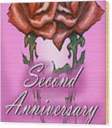 Second Anniversary Wood Print