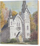 Second Congregational Church Wood Print