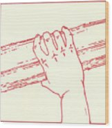 Second Station- Jesus Is Made To Carry His Cross Wood Print