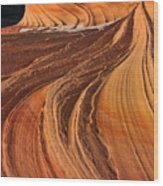 Second Wave, Coyote Buttes North Wood Print