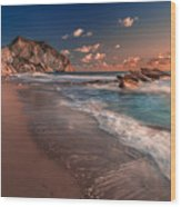 Secret Beach Greece Wood Print