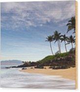 Secret Beach Maui Sunrise Wood Print