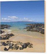 Secret Beach Of Kahoolawe And Molokini Wood Print