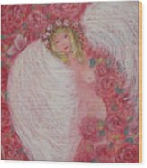Secret Garden Angel 6 Wood Print