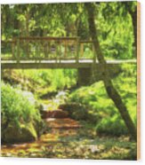 Secret Garden Bridge Wood Print