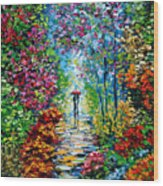 Secret Garden Oil Painting - B. Sasik Wood Print