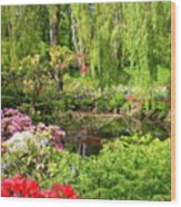 Secret Garden Pond Wood Print