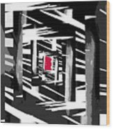 Secret Red Door Wood Print by Gerlinde Keating - Galleria GK Keating Associates Inc