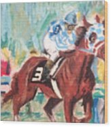 Secretariat 1973 Wood Print