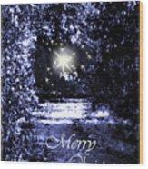 Secrets Christmas Card  Wood Print
