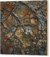 Sedimentary Abstract Wood Print